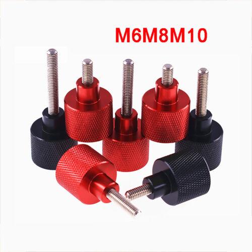 Aluminium Griffkopf + Edelstahl Gewindestange M6 M8 M10 Hohe Rändelschrauben
