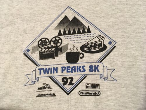 Vintage Men's Size Large Twin Peaks 8k Run Promo 1