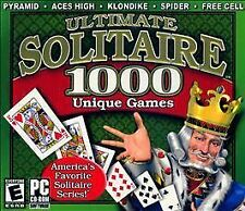 Ultimate Solitaire 1000 amaray case package (PC, 2006) *New,Sealed*
