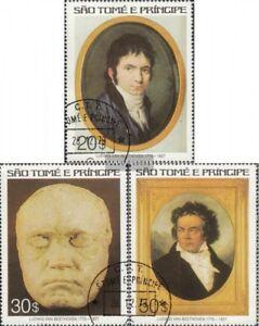 Sao-Tome-e-principe-460-462-edicion-completa-usado-1977-Ludwig-van-Beethoven