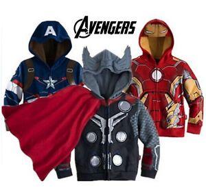 Infinity Wars Boys Kids Avengers Ironman Hooded T-Shirt Hoodie Hoody Iron Man