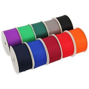10 Roll Grosgrain Ribbon Set - 10 Dark Shade Colors 10 Yds each - 1 1/2 Width
