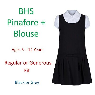 Girls School Pinafore Grey Uniform Dress Ex Matalan BACK TO SCHOOL
