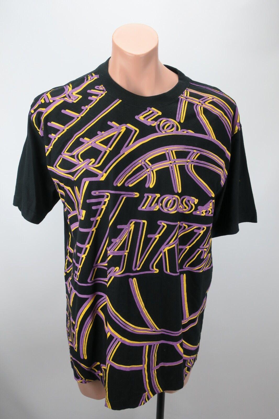 LA Lakers All Over Print Front NBA Lebron Basketball Shirt Sz XL UNK