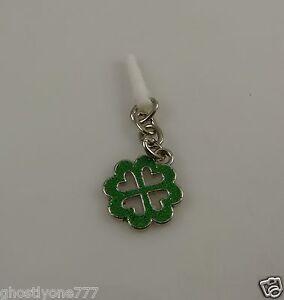 shamrock-4-leaf-lucky-clover-cell-phone-charm-ear-cap-dust-plug-hearts