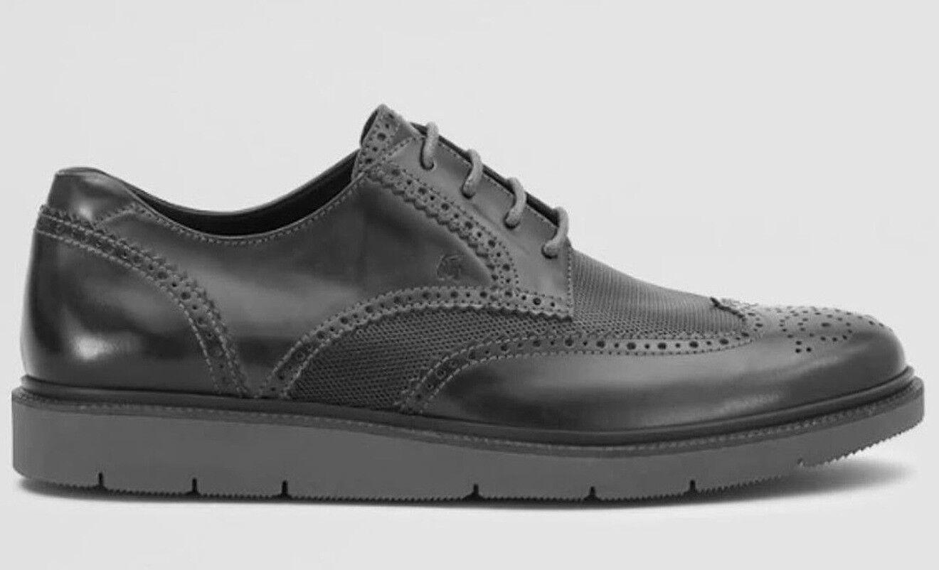 Hogan authentic brogue uomo scarpe scarpe uomo Dimensione 7.5 41.5 pelle antracite