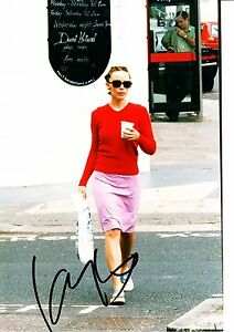 Kylie-Minogue-Autograph-Hand-Signed-12x8-Photo-CANDID-SHOT