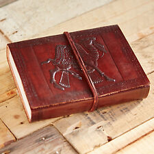 Fair Trade Handmade Indra Camel Leather Journal Notebook Diary