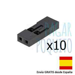 10-conector-2-pin-2-54mm-hembra-cable-dupont-puente-jumper-Arduino-electronic-2p