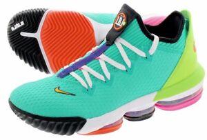 official photos b0da7 ac3eb Details about Nike LeBron 16 Low Hyper Jade CI2668-301 James 2019 Men  Basketball Shoes DS