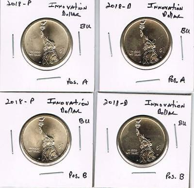 2018 $1 P D S American Innovation 5 Coin Set P/&D Position A and B PDS