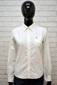 Camicia-RALPH-LAUREN-Donna-Taglia-S-Blusa-Manica-Lunga-Cotone-Bianca-Hemd