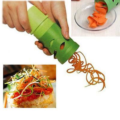 Kitchen Easy Vegetable Fruit Veggie Slicer Julienne Spiral Curly Choppers Cutter