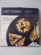 New Slate Lazy Susan 14' Diameter Slate Revolving Serving Plate Entertaining