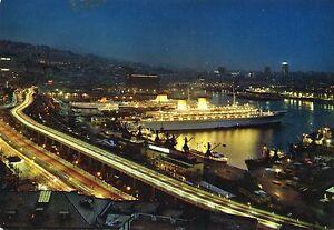 Alte-Postkarte-Genova-Porto-e-sopraelevata