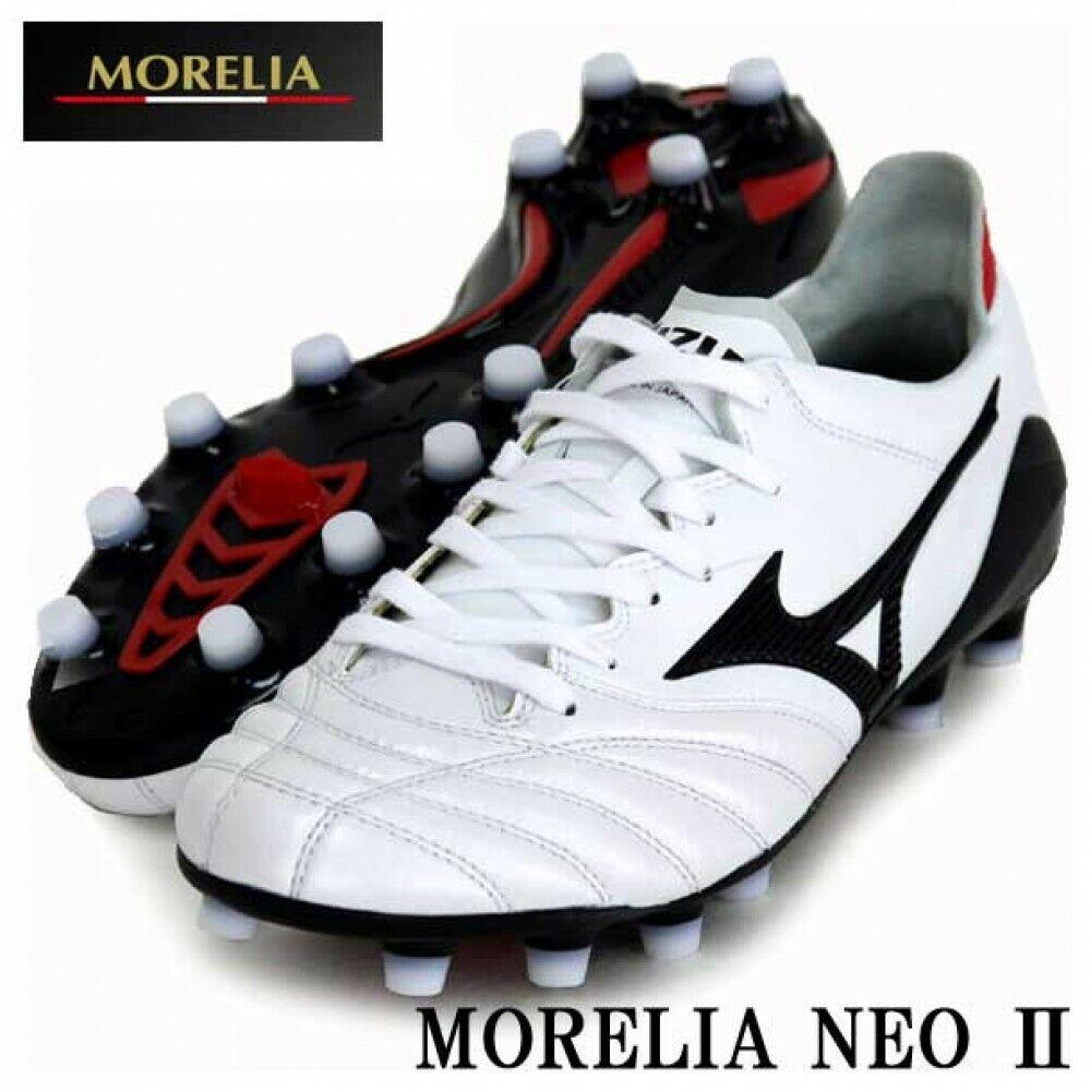 Mizuno Morelia Neoprene 2 da Calcio P1ga165009 Super Bianco Perla  Nero fatto In