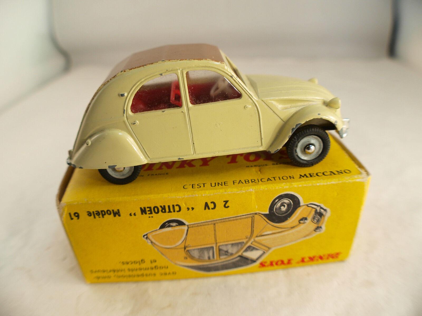 Dinky Toys F n° 558 558 558 Citroën 2CV modèle 1961 en boite 2ad8ed