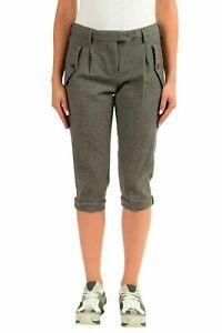 e59bc608896db Moncler Women's 100% Wool Plaid Cropped Capris Pants US 6 IT 42 ...