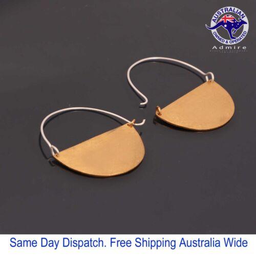 "Classic Semi/'s Handmade Danglers Earring 1.5/"" in 3 Plating Options"