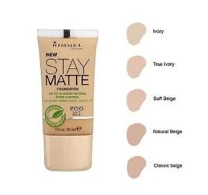 Rimmel Foundation New Stay Matte Foundation 12hrs Natural Shine 30ml
