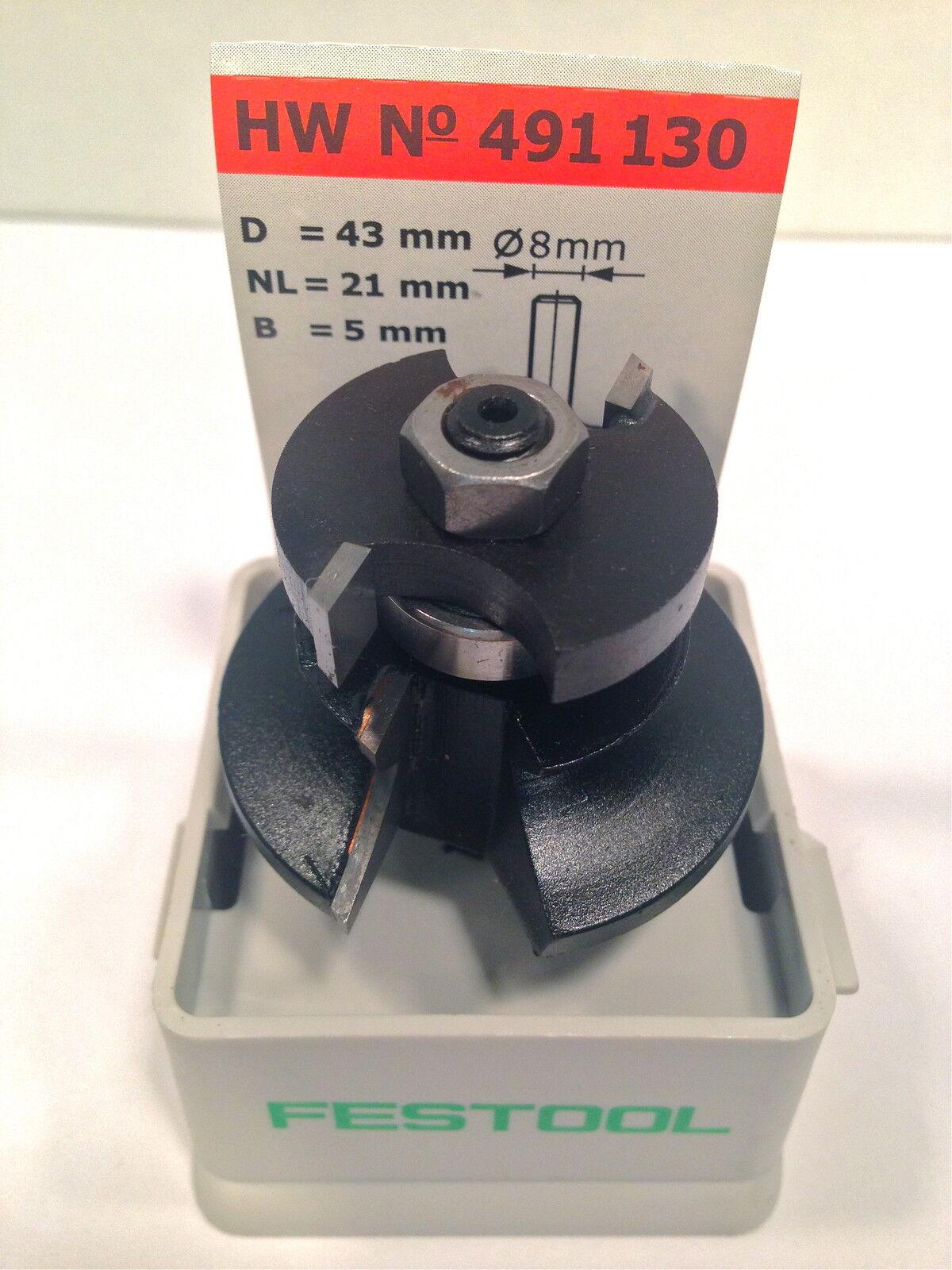 Festool Konterprofilfräser Feder HW S8 D43/21 A/KL  Schaft 8 mm Art-Nr 491130