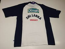 New (XL) SRI LANKA Cricket Blue White Polo Shirt Dilmah