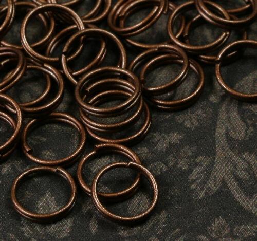 100x Spaltringe Spiralringe Binderinge Verbindungsringe DIY Schmuck Kupfer 8mm