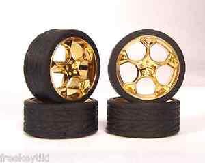 Hoppin-Hydros-1-24-1-25-scale-Slim-20s-Gold-Shokk-Model-Car-Rims-Wheels-Tires