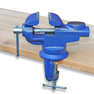 50mm Swivel Portable Table Vice with Anvil Die Cast Iron Bench Vise Clamp