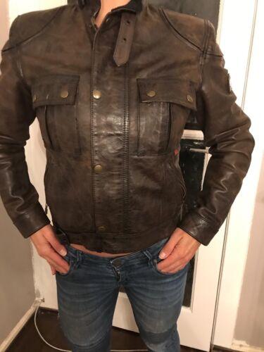Leren Biker Orginal jas Brown Belstaff Jacket Hqv4BBw