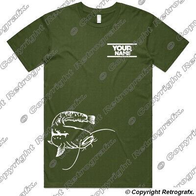 Personalised Common Carp Angling Fishing T-shirt catfish pike Birthday Gift B