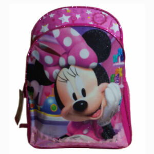 NEW DISNEY MINNIE MOUSE GIRLS BIG BACKPACK BOOK BAG NWT BACK TO SCHOOL Pink