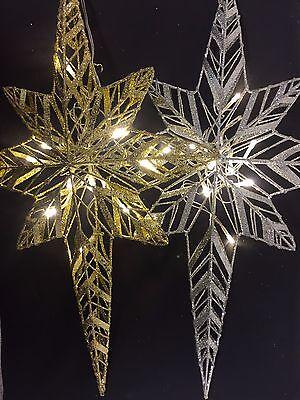 UK-Gardens Christmas Decorations 56cm Large White Decorative Hanging Star Christmas Decoration