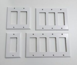 6 Gang Toggle Light Switch Wall Plate Cover Unbreakable White Techeventsltd Co Uk