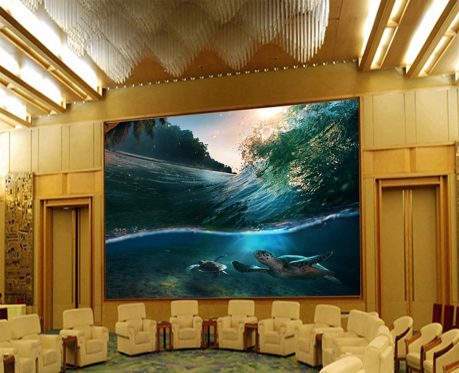 3D Sunlight Tree Sea Turtles Wall Paper Wall Print Decal Wall AJ WALLPAPER CA