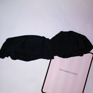 Victoria-Secret-Swim-Suit-Bikini-Top-Medium-Black-Flounce-Ruffle