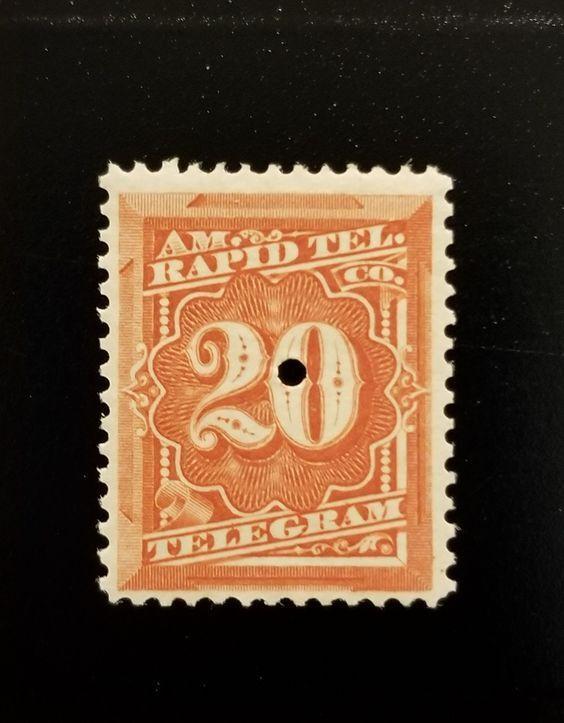 1881 20c U.S. American Rapid Telegraph Company, Red Sco