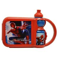Spider-man - Portable Snack Pack Container With Water Bottle Set