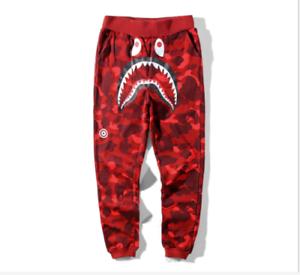 Men/'s Bape A Bathing Ape Shark Head Camo Sweatpants Jogging Pants Long trousers