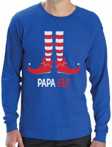 Papa Elf Funny Christmas Gift for Dad Grandpa Long Sleeve T-Shirt Santa/'s