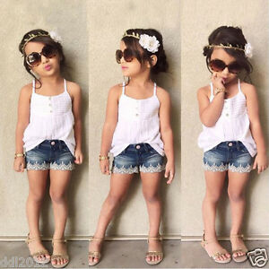 2pcs-Fashion-Toddler-Kid-Baby-Girl-Outfits-Tops-T-shirt-Jeans-Pants-Clothes-Set