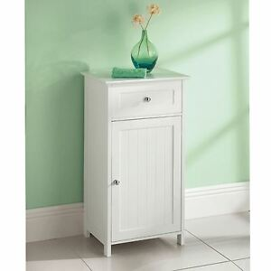 Image Is Loading White Wooden 1 Drawer Door Freestanding Bathroom
