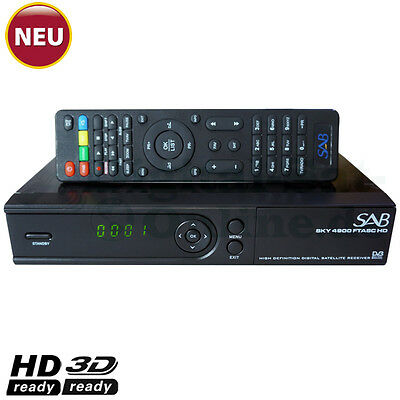 ►SAB SKY 4900 1xCard Full HD SAT Receiver USB YouTube Mediaplayer HDTV
