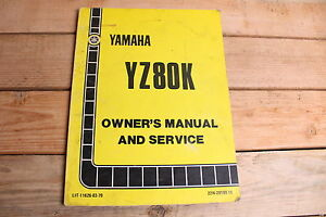 Yamaha-YZ80K-YZ80-OEM-Owners-Manual-and-Service-LIT-11626-03-79