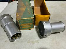 Vintage Russell Amp Stoll Lp1034 Pin Amp Sleeve Plug 100a 480vac 250vacdc Nos