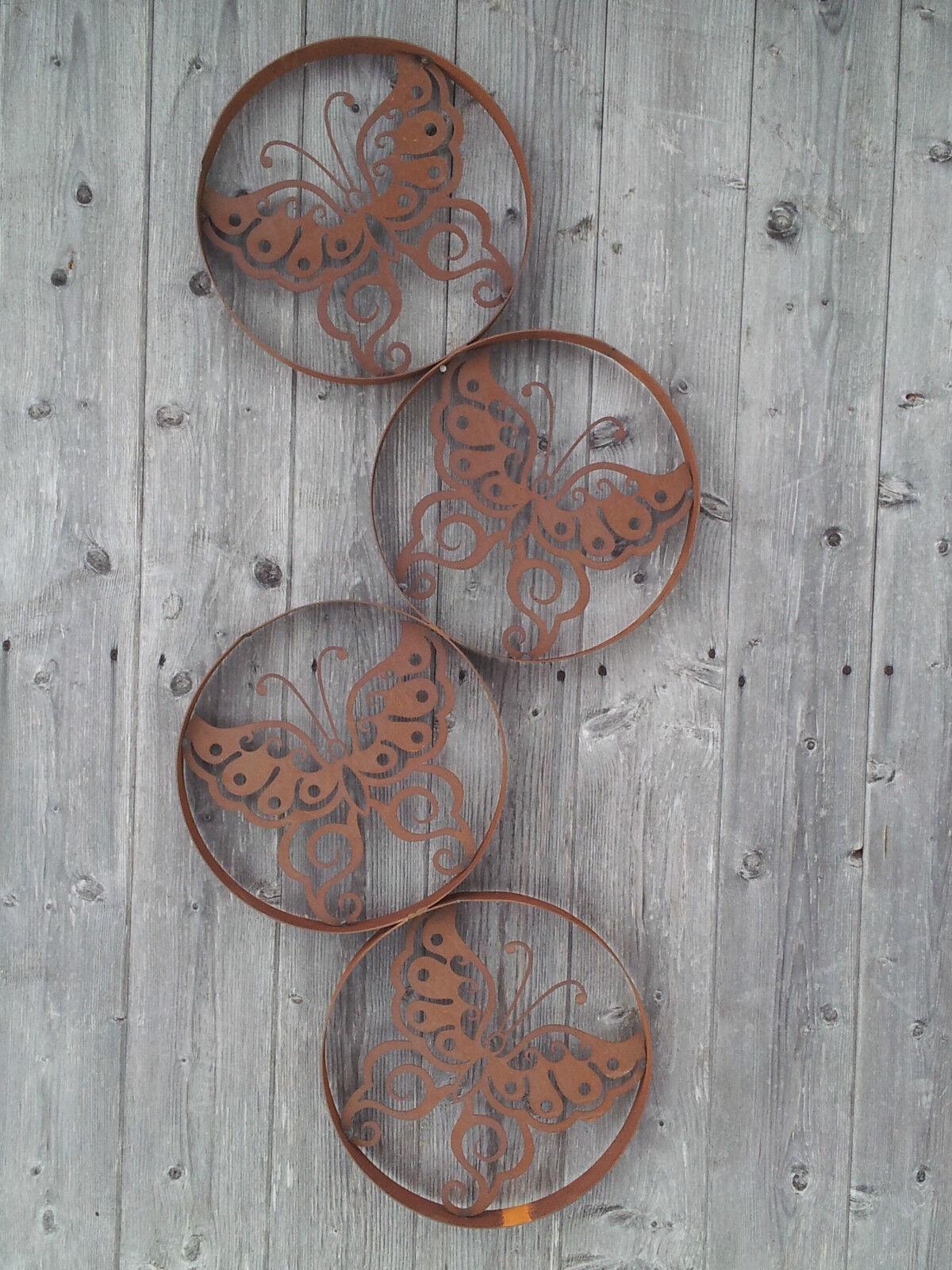 Imagen de parojo mariposa decoración jardín de metal vivir terraza óxido decoración de imagen