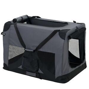 Sac de transport pour chien Pro.tec®, boîte de transport L, boîte de transport pliable gris