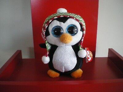 "TY Beanie Boos 6/"" Plush Stuffed Animal PENELOPE Penguin MWMT/'s Christmas 2017"