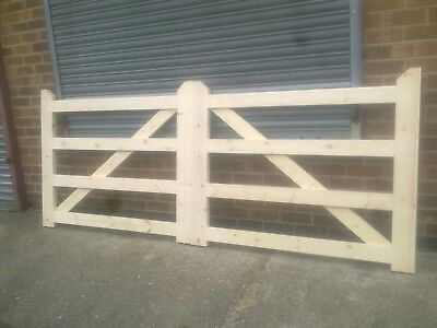 4 Bar Style Field Farm Drive Single Timber Wooden Gates Ebay