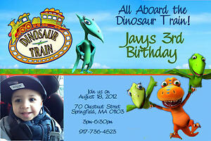 Image Is Loading DINOSAUR TRAIN BIRTHDAY PARTY INVITATIONS 24hr Service UPRINT